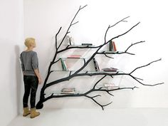 Sebastian Errazuriz's one-of-a-kind shelving unit called Bilbao proves that inspiration can come from simply stepping outside your front door. Created using a found tree branch, the artist retrieved the fallen limb from a Santiago street and took it back to his workshop. There, he twisted, turned, and readapted it, allowing the giant branch to hug …