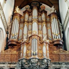 """Organ in """"Oude Kerk"""" in Amsterdam"""