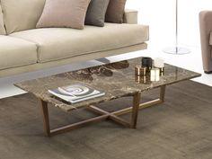 Tavolino con piano in marmo Grant di HomePlaneur