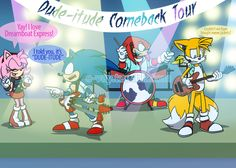 """e-vay: """"Thank you everyone who came to the stream! And thank you to we-laugh-till-we-cry for inspiring this idea :) It's Dude-itude's year Comeback Tour! Sonic Dash, Sonic 3, Sonic And Amy, Sonic Fan Art, Sonic The Hedgehog, Hedgehog Movie, Shadow The Hedgehog, Sonic Fan Characters, Horror Movie Characters"""