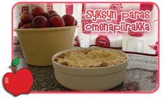 Hauskaa, herkullista ja hyödyllistä: Syksyn paras omenapiirakka Grains, Top, Seeds, Crop Shirt, Shirts, Korn