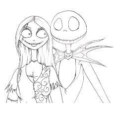 The disney coloring pages the nightmare before christmas