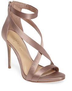 brian atwood heels dry and cracked Ankle Wrap Sandals, Strappy Sandals Heels, Ankle Strap Shoes, High Heels Stilettos, Strap Sandals, Strap Heels, Taupe Sandals, Taupe Shoes, Shoes Heels