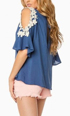 Maiya Blouse in Blue