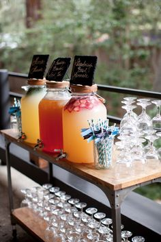 wedding refreshment bar