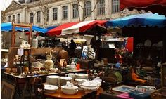 Toulouse flea market, France