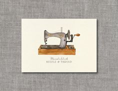 Sewing Machine Watercolor Art Print Unframed by frecklepaper Sewing Humor, Fashion Business Cards, Bussiness Card, Sewing Leather, Sewing Art, Space Crafts, Business Card Design, Watercolor Art, Couture