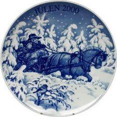 2000 Porsgrund Christmas Plate - Sleigh Ride by Porsgrund. $49.00
