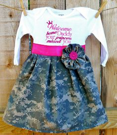 PERSONALIZED Military Homecoming Dress All by ChartreuseGiraffe, $32.00