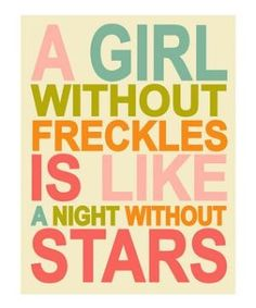 a girl without freckles