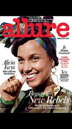 """Alicia Keys"" from Allure, February 2017. Read it on the Texture app-unlimited access to 200+ top magazines."