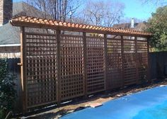 Pergola For Car Parking Privacy Fence Landscaping, Privacy Fence Designs, Garden Privacy, Privacy Screen Outdoor, Backyard Privacy, Backyard Retreat, Privacy Fences, Fencing, Small Garden Pergola