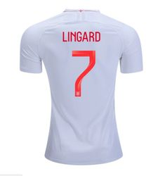 eb077fdc6 Jesse Lingard  7 ENGLAND 2018-2019 Home Football Shirt -Red Best Quality