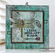 That's Life: Stamp and Stencil Fun ~ Simon Says Stamp Monday Challenge featuring Tim Holtz
