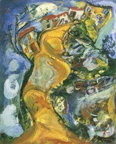 Chaïm Soutine Mai La route folle à Cagnes (La gaude) vers Chaim Soutine, 1. Mai, Oil On Canvas, Art Gallery, Painting, Concrete, Pintura, Art, Expressionism