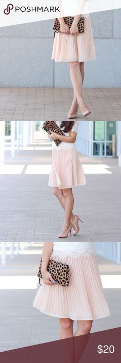 Ann Taylor Blush Pleated Skirt Ann Taylor Blush Pleated Skirt Size 10 Ann Taylor Skirts Midi