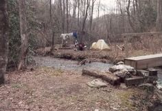 My trip along the Appalachian Trail: Day 4 Third night on the A.T. at Blackwell Creek
