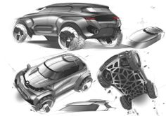 Car design sketches - by A. Shamenkov
