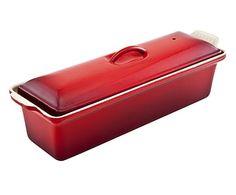 Terrine Ferro Fundido Esmaltado Vermelho - 32cm