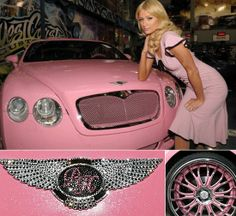 Bentley GT Paris Hilton Pink ☆ Girly Cars for Female Drivers! Love Pink Cars ♥ It's the dream car for every girl ALL THINGS PINK!