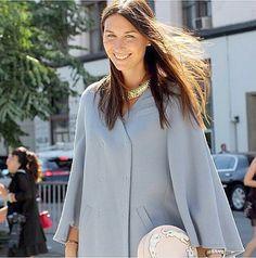 Editor in chief of Harpers Bazaar Russia-Daria Veledeeva carrying our handbag by Andres Gallardo