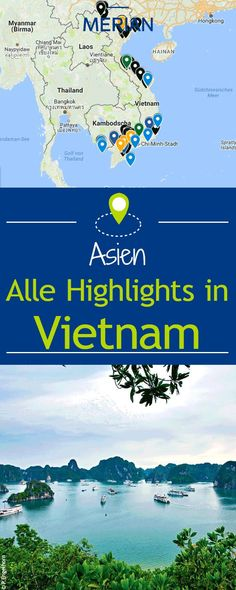 We show you the most beautiful sights and give tips for restaurants. Everything at a glance on our interactive map. Vietnam's landmarks MERIAN - Die Lust am Reisen MERIANreise Asien erleben We show you the most beautiful sights and give tips fo Travel Europe Cheap, New Travel, Travel Alone, Time Travel, Travel Style, Europe Destinations, Holiday Destinations, Vietnam Travel, Thailand Travel