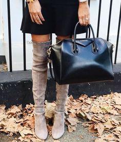 Givenchy bag & OTK boots.