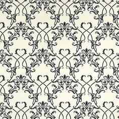 "Brewster Home Fashions Ink Chandelier 33' x 20.5"" Damask 3D Embossed Wallpaper…"