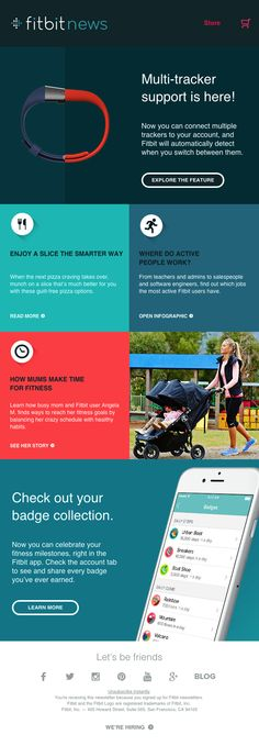fitbit news edm design  #edm #emaildirectmarketing