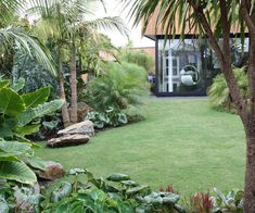 Tropischer Garten Mt Eden New Zealand. Designer: Xanthe White Jardim tropical do Monte Eden Nova Zelândia. Tropical Backyard Landscaping, Tropical Garden Design, Large Backyard, Front Yard Landscaping, Landscaping Ideas, Tropical Gardens, Tropical Plants, Tropical Patio, Backyard Garden Design