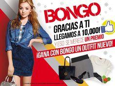 Participa y gana un outfit Bongo. Entra a www.facebook.com/bongomexico