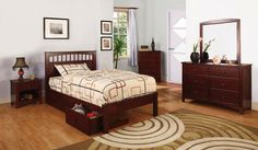 Carus Twin Bed Collection CM7904CH-T