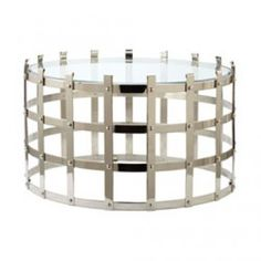 Buy the Dimond Home 675001 Silver Direct. Shop for the Dimond Home 675001 Silver Metal Strap X X Coffee Table and save. Silver Coffee Table, Black Coffee Tables, White Side Tables, Cool Coffee Tables, Coffee Table Design, Round Coffee Table, Modern Coffee Tables, White Coffee, Accent Furniture