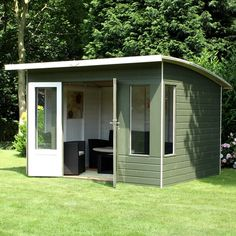 Buy Waltons 10 x 8 Helios Summerhouse at Waltons Garden Buildings. UK made sheds, cabins and more. Free, fast delivery to most of UK Summer House Garden, Home And Garden, Dream Garden, Summer Houses, Plastic Summer House, Garden Buildings Direct, Shed House Plans, Backyard Sheds, Quartos