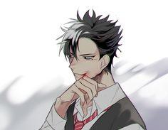 #Kuroo #hq Haikyuu Nekoma, Kuroo Tetsurou, Haikyuu Fanart, Haikyuu Anime, Hot Anime Boy, Anime Love, Anime Guys, Haruichi Furudate, Akaashi Keiji