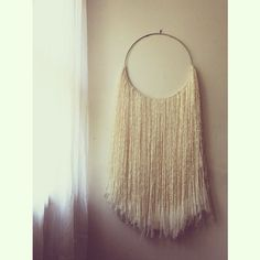 wool hoop wall art - The Wool Hoop Wall Art Hanging Tapestry from SonadoraInLove on the online retailer Etsy shop is whimsical. The handmade wool creations are one-of-a. Woven Wall Hanging, Tapestry Wall Hanging, Wall Hangings, Hanging Art, Macrame Art, Macrame Projects, Macrame Knots, Textiles, Art Textile