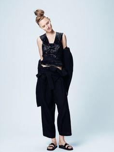 """New Shapes"" Manuela Frey By Kerry Hallihan For UK Elle March 2015"