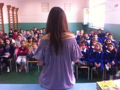 """Autori in Città#4  Silvia Vecchini incontra i lettori delle elementari sul titolo """"Eugenio l'inventore"""", Giunti editore"""