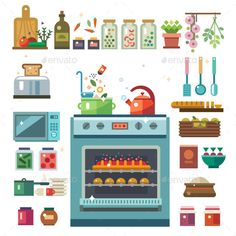 Home Kitchenware - Objects Vectors