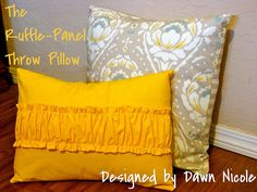 Ruffle Panel Throw Pillow Cover Tute