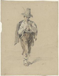 Anton Mauve   Jongen blazend op een schalmei, Anton Mauve, 1848 - 1888  
