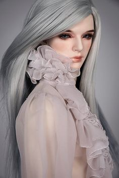 Silver steel | Beautiful long hairs for your doll. Unisex ha… | Flickr