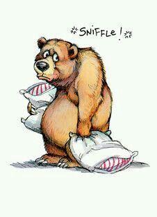 Cartoon Drawing Tips Bear Sniffles Folded Card - Sniffle! Bear Cartoon, Cartoon Art, Cute Cartoon, Cartoon Characters, Drawing Cartoon Animals, Fictional Characters, Cute Animal Drawings, Cute Drawings, Arte Peculiar