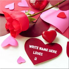 Write Custom Name On Love You Red Heart Picture.Generate Love Greeting Name Pics.Create Love Red Heart With Rose Name Pics.Beautiful Love Heart Photo With Name Happy Birthday Cake Writing, Happy Birthday Cakes, Hearts And Roses, Red Roses, Happy Ram Navami, I Love You Images, Love Cartoon Couple, Heart Pictures, Photo Heart