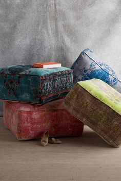 Alanya Pouf - anthropologie.com