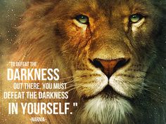 To defeat the darkness out there, you must defeat the darkness within yourself