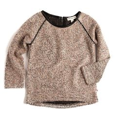 db0025385  Kay  Knit Raglan Sweater in Rose Tan · Pullover DesignsGirls Designer  ClothesKids ...