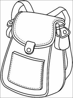 Coloring Pages to print for kids School 2 - Back To School Coloring Pages To Print, Coloring For Kids, Coloring Sheets, Coloring Books, Back To School Highschool, I School, School Bags, School Ideas, School Supplies In Spanish