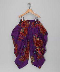 Purple Rose Harem Pants