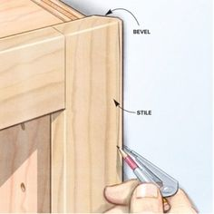 Bevel back your face frame to make it easy to scribe to the wall  Cabinet  MakingKitchen  Building Kitchen Base Cabinets 101  Good to know for custom  . Making Kitchen Cabinets. Home Design Ideas